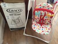 Gracie Baby Delight Swing Chair Bouncer Rocker + Box