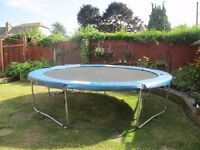 12 foot trampoline good condition used only one season for grandchildren