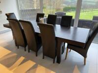 Habitat Drio Extending Wenge/Dark Brown 4-10 Seater Dining Table