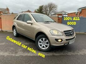07-56 MERCEDES ML320 CDI SE FULLY SERVICED 1 PREVIOUS OWNER UNMARKED FULL BLACK LEATHER IMMACULATE