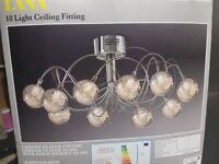 NEXT Lana 10 light ceiling light x 2 plus matching floor lamp