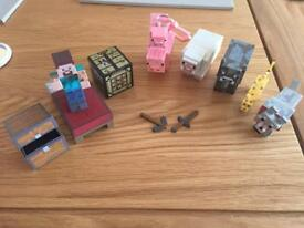 Minecraft Steve set and animal set as new