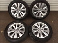 16'' GENUINE VW GOLF MK7 ALLOY WHEELS TYRES 5X112 TORONTO MK5 MK6 CADDY PASSAT LEON JETTA TOURAN