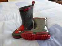 Wellies, Children's / Toddler size 11. Spiderman character.