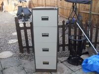 4 drawer metal filing cabinet with key