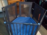 Lindam metal and fabric playpen with mat