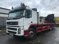 Volvo 380fm 6x2 with 40ton @ a meter crane