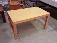 Plain maple laminated Ikea coffee table