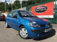 2003 03 Renault Clio 1.4 16v Expression 5dr Petrol 5 Speed Manual Low Miles