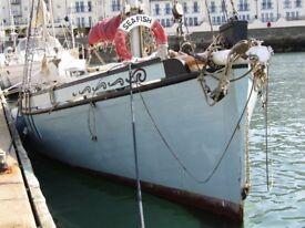 Heritage Gaff Sail Boat, East Coast Smack `Seafish` LN236