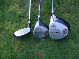 Golf clubs woods 1 2 and4