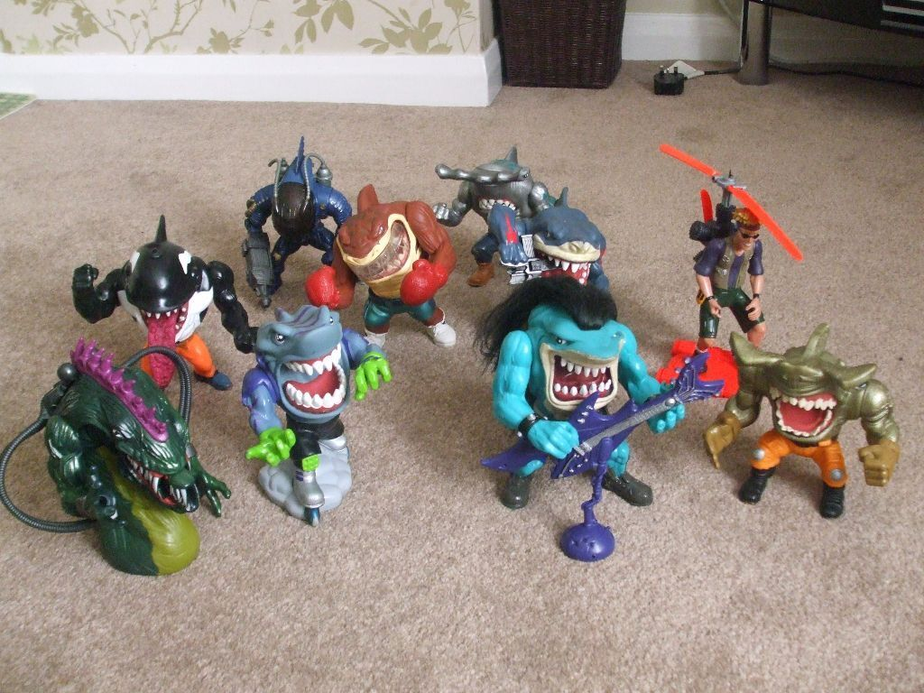 Street Sharks Toys : S collectable quot street shark toy action figures with