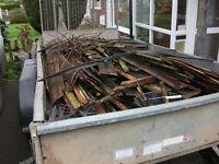 Kindling fire wood to help burn logs