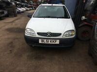 2001 Citroen Saxo First 3dr Hatchback 1.2 Petrol White BREAKING FOR SPARES