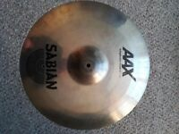 "Sabian AAXplosion 16"" Crash Cymbal: used but good condition."
