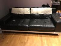 3seater leather sofa
