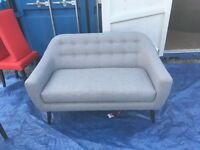 EX DISPLAY MADE-COME RETRO RITCHIE 3 SEATER SOFA IN PEARL GREY RRP £699