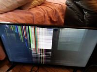 JVC LED backlit LT 32C360 32 inches HD SPARES OR REPAIR CRACKED SCREEN