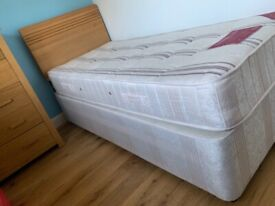 single bed and mattress , collect only