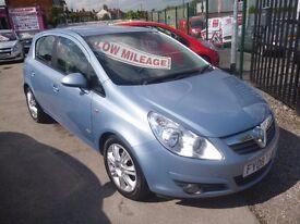 Vauxhall CORSA Design,5 dr hatchback,FSH,full MOT,nice clean tidy car,runs and drives well,only 51k