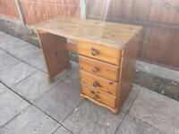 QUICK SALE Pine office study desk / dressing table