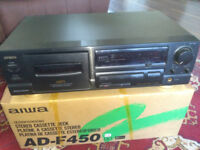 Aiwa ADF450 Tape Cassette deck... boxed, working perfectly.