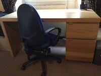 Desk x3 & chair x2