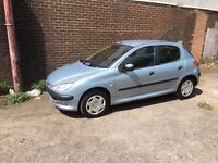 PEUGEOT 206 1.4 5 DOOR **Mot**Spares or repairs*** Starts and Drives***