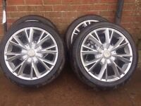 "17"" wolfrace alloy wheels pcd 114 et40"