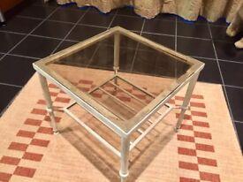 Small Metal / Glass Table