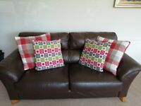 """Sofa Brown Leather Quality 3 + 1 ** NO LONGER AVAILABLE """""""""""