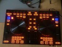 Behringer dj controller and laptop