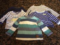 Bundle of boys' long-sleeved tops for sale, 6-9 months, excellent condition, 5 items for just £2.50!