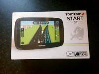 Tomtom start 50 sat nav and case in packaging