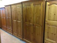 Quality used solid wood / pine wardrobe