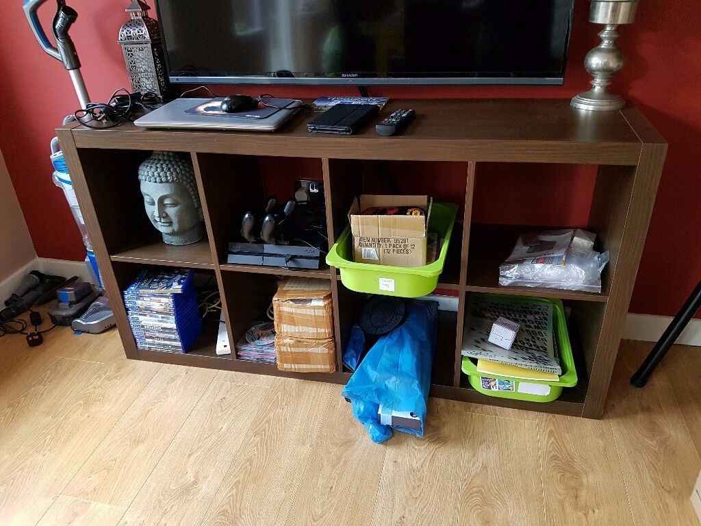 Ikea Shelving unit KALLAX Black-brown