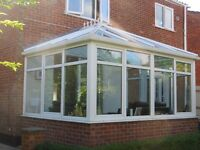 Glass Conservatory For Sale - Excellent Condition with clear glass roof design
