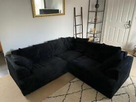 Navy Corner Sofa