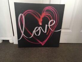 """Love"" canvas"