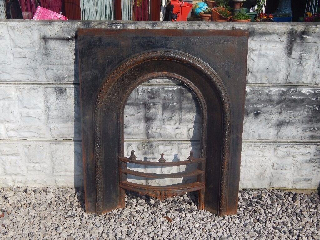 cast iron fireplace insert living room vintage cast iron