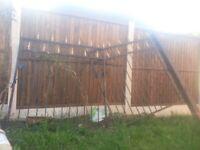 cast iron gates an matchin railing
