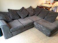 RH Corner Sofa Milo Plain Grey