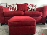 Two three seater scatter back sofas