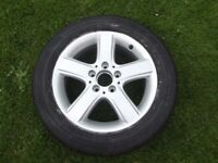 Mercedes B Class Wheel And Tyre 205/55/16