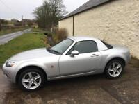 2006 MAZDA MX5 1.8 OPTION PACK. FULL SERVICE HISTORY, LOW MILEAGE, 1 YEAR MOT WITH NO ADVISORIES