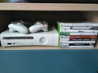 Xbox 360 + 9 Games