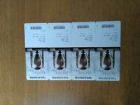 4xAviva Premiership Final tckts Twickenham Saracens v Exeter Sat 26 May 3.00 £60 each (FV £65+bkg)
