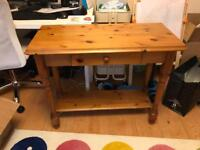 Traditional pine console table FREE!
