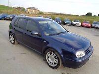 2002 VOLKSWAGEN GOLF 1.9 GT TDI 150 BHP 5 DOOR HATCHBACK BLUE 6 SPEED MANUAL DIESEL