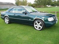 """SUPERB RARE MERCEDES E CLASS 2.2 AUTO 2 DOOR COUPE W124 MET GREEN FULL LEATHER AMG 18"""" ALLOYS £4995"""